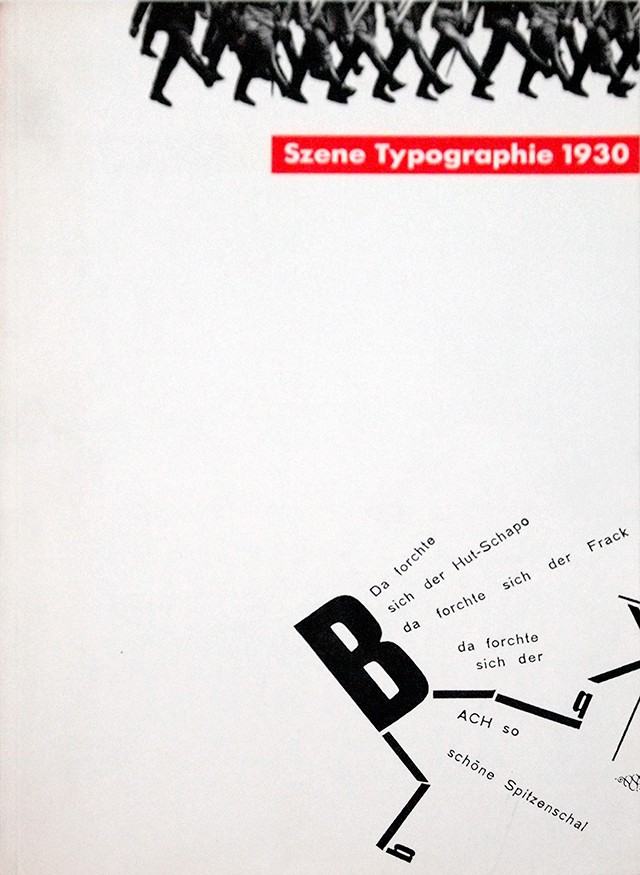 Szene Typographie 1930 | エル・リシツキー、ジョン・ハートフィールド、ヤン・チヒョルト ほか