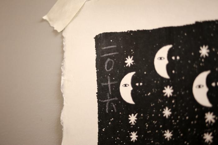シルクスクリーン月相カレンダー