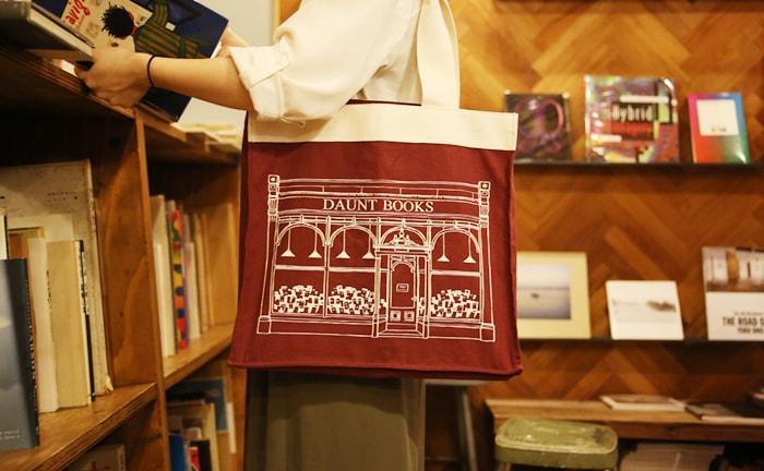 DAUNT BOOKS トートバッグ ワインレッド