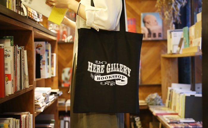 HERE GALLERY AND BOOKSTORE トートバッグ