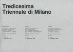 Tredicesima Triennale di Milano | Pasquale Morino, Leonello Pica