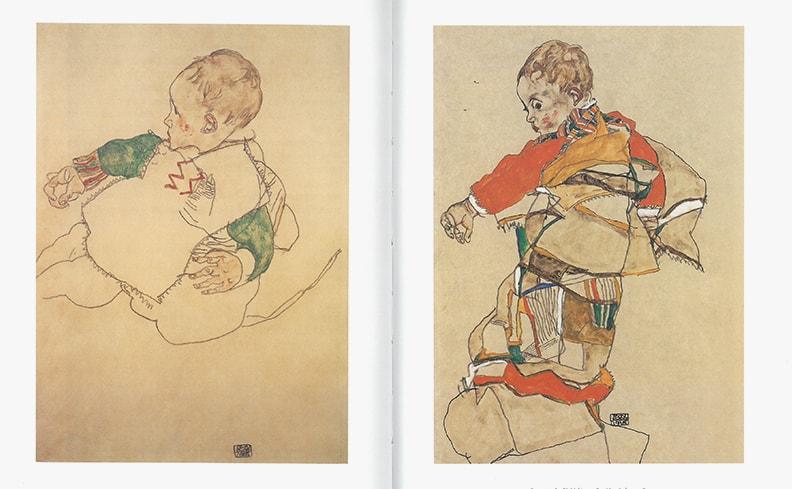 エゴン・シーレ ドローイング 水彩画作品集