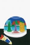 安西水丸ポストカード | スノードーム