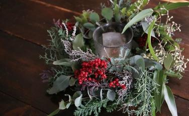 クリスマスリースの展示販売開催!いい夫婦の日や、勤労感謝の日のプレゼントにも植物を贈ろう
