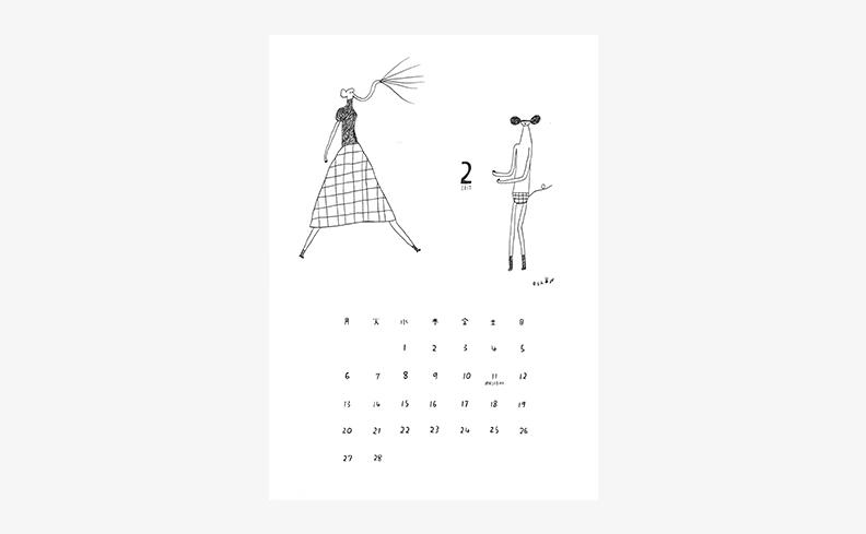 oshow 2017年イラストカレンダー