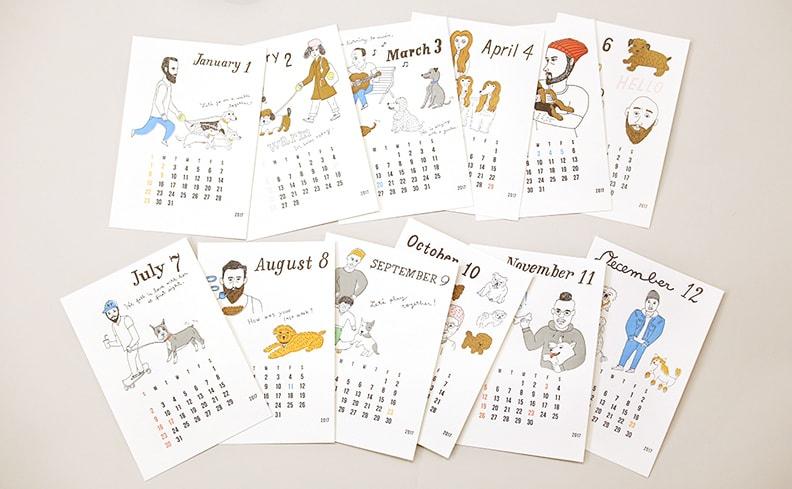 Letterpress Calendar 2017 | そで山かほ子