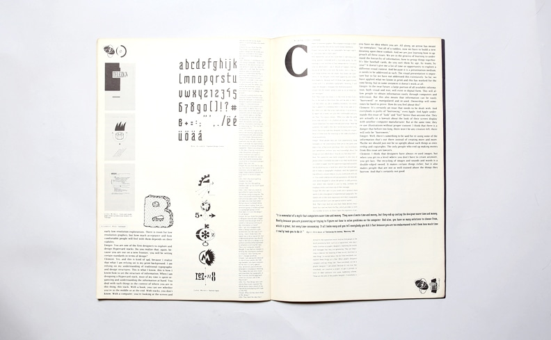 Emigre 11: Macintosh | Rudy Vanderlans、Zuzana Licko
