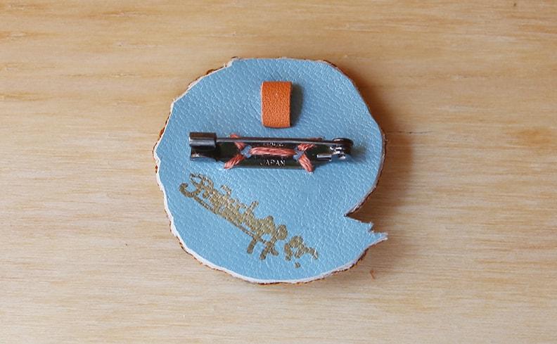刺繍ブローチ ワオキツネザル | atelier grasshopper