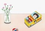 安西水丸 ポストカード 花とナンシー