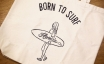 Paint&Supply トートバッグ Born to Surf
