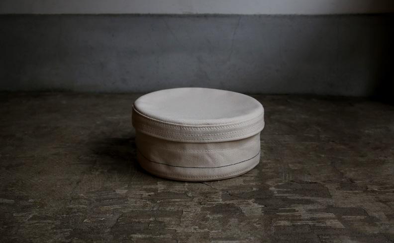 raregem(レアジェム)Nest Box Medium | 倉敷産帆布製、蓋付きのラウンド型収納ボックス