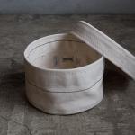 raregem(レアジェム)Nest Box Small | 倉敷産帆布製、蓋付きのラウンド型収納ボックス