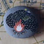 ペーパーウェイト くま たき火 | オカタオカ