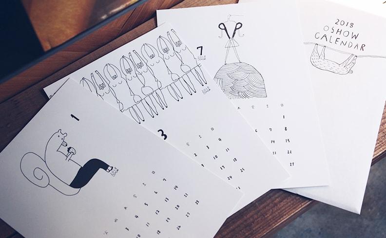 2018年カレンダー | oshow