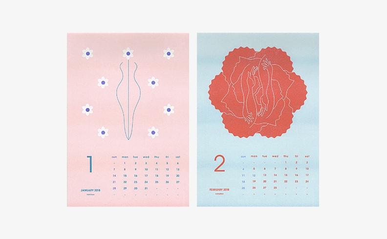2018年カレンダー Flower&Man | 井上元太