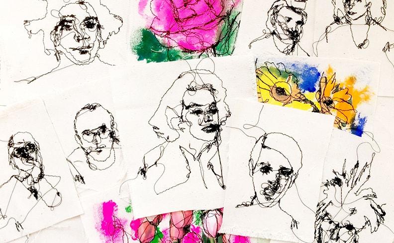刺繍作家・MU個展「糸で描く」