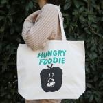 トートバッグ Hungry Foodie Apple L | 平塚大輔