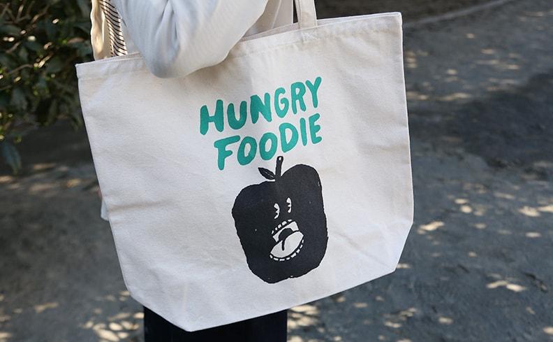 平塚大輔 トートバッグ Hungry Foodie Apple L